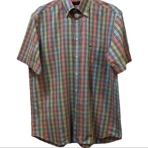 Paul & Shark made in Italy plaid cotton shirt L